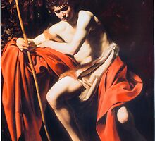 Saint John the Baptist in the Wilderness  by Michelangelo Merisi da Caravaggio by troycap