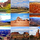 Collage of Utah Landscape Icons by Catherine Sherman