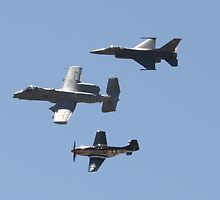 F-16, A-10, P-38 by maccole25