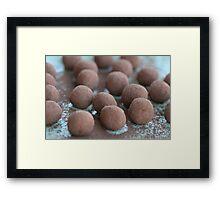 Chocolate Coffee Truffles Framed Print