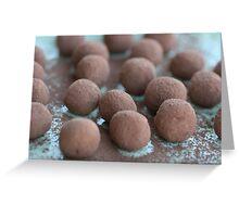 Chocolate Coffee Truffles Greeting Card