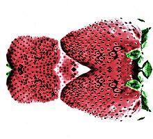 Neon  Strawberry / Fraises Neon by terrebo