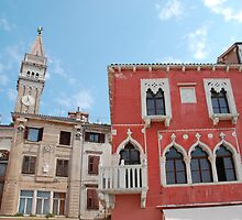 Buildings in Piran Main Square by jojobob