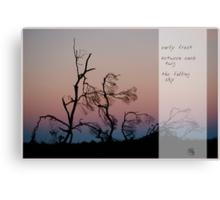 Early Frost Canvas Print