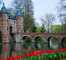 Groot Bijgaarden Castle and Gardens 2 by Alison Cornford-Matheson