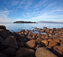 Huon Island Early Morning by Chris Cobern