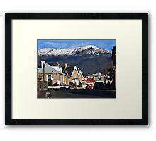 Mount Wellington in snow Framed Print