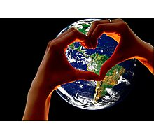 Love our Earth Photographic Print