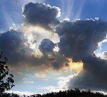 sky  clouds bushfire  burn-off smoke - by gaylene