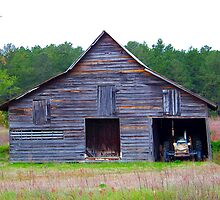 Barn and Tractor by Ellen  Price - Greenwald