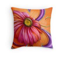 The Paisley Gerbera by Alma Lee Throw Pillow