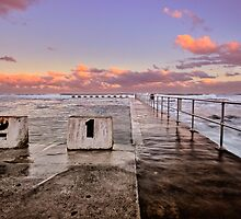 Diving Blocks at Dusk by Mark Snelson