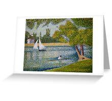 The Seine at La Grande Jatte Greeting Card