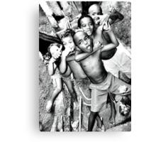 Can you feel it! Rocinha Children, Rio de Janeiro Brazil 2009 Canvas Print