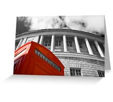 Red telephone box and Manchester library Greeting Card