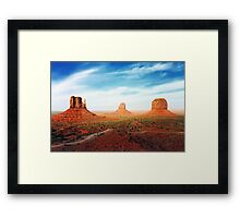 West Mitten East Mitten and Merrick Butte Framed Print