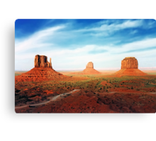 West Mitten East Mitten and Merrick Butte Canvas Print