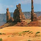 Totem Pole and Yei Bi Chei - Monument Valley Tribal Park, Navajo Nation by paolo1955