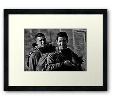 Hometown Heros Framed Print