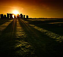 Stonehenge Sunset by Thomas Peter