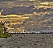 Storm Clouds over Lake Mulwala by David Hunt