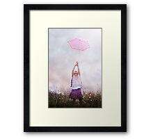 thinking flying is a wonderful thing, except it's not as quiet as it was in the beginning... Framed Print