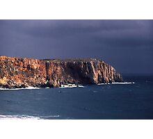 View at dusk towards Cape St Vincent, Portugal Photographic Print