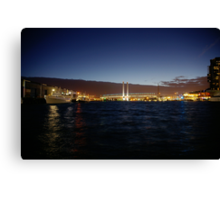 Docklands at Night Canvas Print