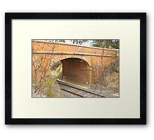 Bridge over train track, North Castlemaine Framed Print