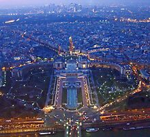 Paris from the Tour Eiffel by Al Bourassa