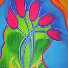 Bendy Tulips by Chantel Schott