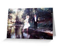Barefoot bride Greeting Card