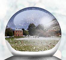 House Snow Globe by Kristina K
