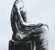Study From Henry Moores-Working Model for Seated Woman-1980 by Josh Bowe