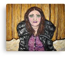 """Self Portrait on Oaklands Stage"" Canvas Print"