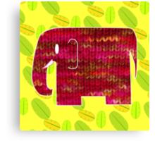 knitty elephant Canvas Print