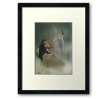 Native american indian Framed Print