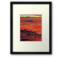 The Living Desert sunset Broken Hill  Sunset  Framed Print