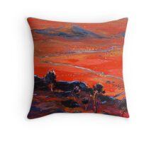 The Living Desert sunset Broken Hill  Sunset  Throw Pillow