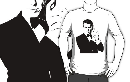 Bond, James Bond #2 T-shirt by Lauren Eldridge-Murray
