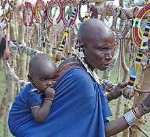 Maasai Woman  & Child,Tanzania, Africa by Adrian Paul