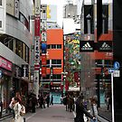 Side street of Shibuya by Michelle Dewis