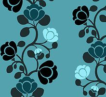 Rosebud Wallpaper by Charlotte Harold