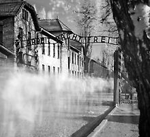 Auschwitz gates by KeithGentry