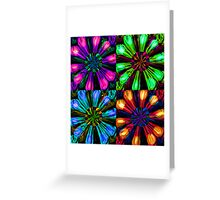 Neon Floral Tile Greeting Card