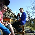 self-portrait with second cousins (Graham with Pippa and Matt) by armadillozenith
