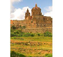 Cathedral at Mdina, Malta Photographic Print