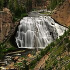 Gibbon Falls at Yellowstone National Park by JimGuy