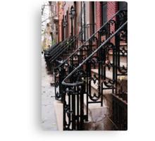 Steps into the Distance, Iron Stair Rails, Manhattan Canvas Print