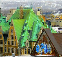 Bird's View On Quebec City by artisandelimage
